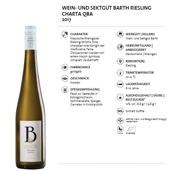 Wein- und Sektgut Barth Riesling Charta QBA