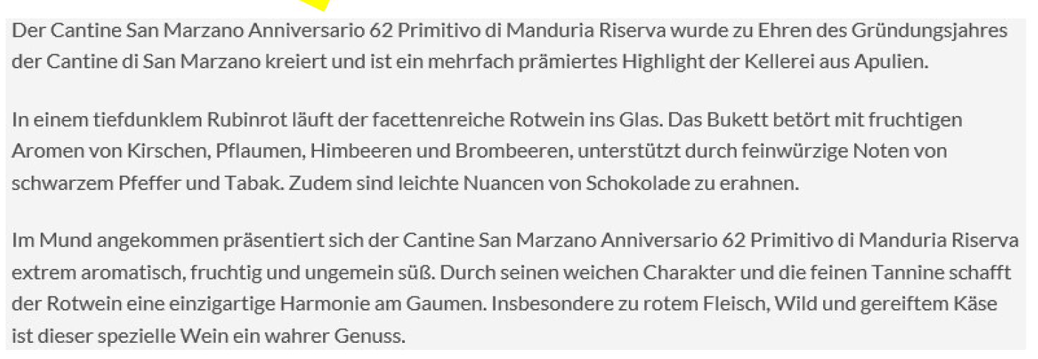 "ANNIVERSARIO &"" PRIMITIVO DI MANDURIA D.O.P. RISERVA"
