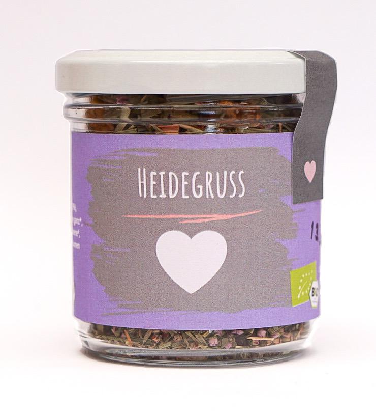 "Bio Tee ""Heidegruss"" klein"