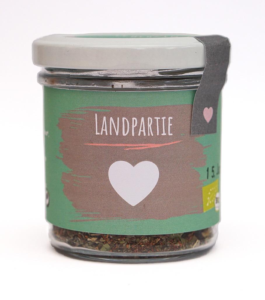 """Bio Tee """"Landpartie"""" klein"""